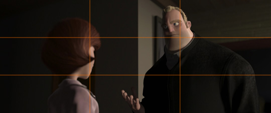 "rule of thirds explained with ""incredibles"""