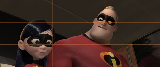 """rule of thirds explained with """"incredibles"""""""