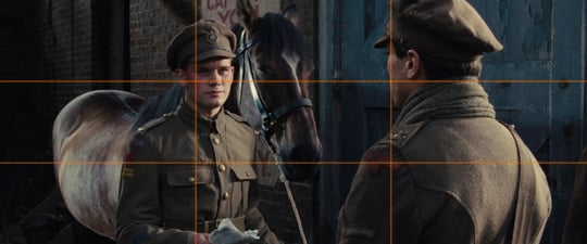 "rule of thirds explained with ""war horse"""
