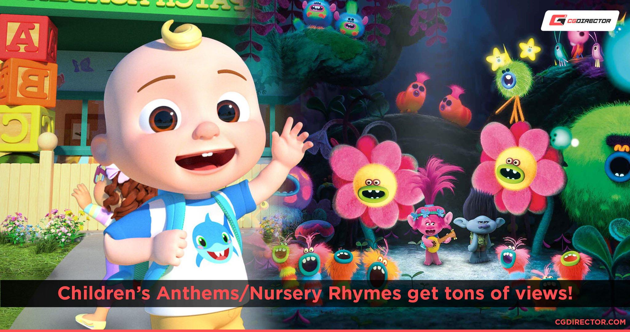 Nursery Rhymes get lots of views