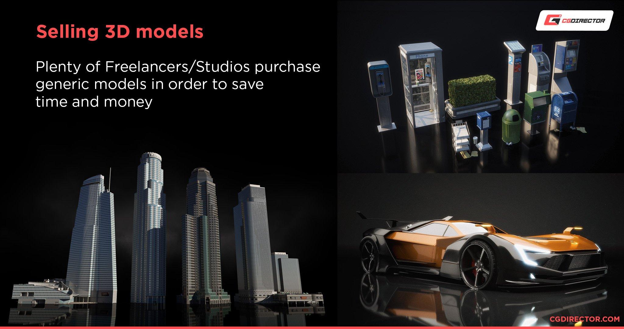 Selling 3D models