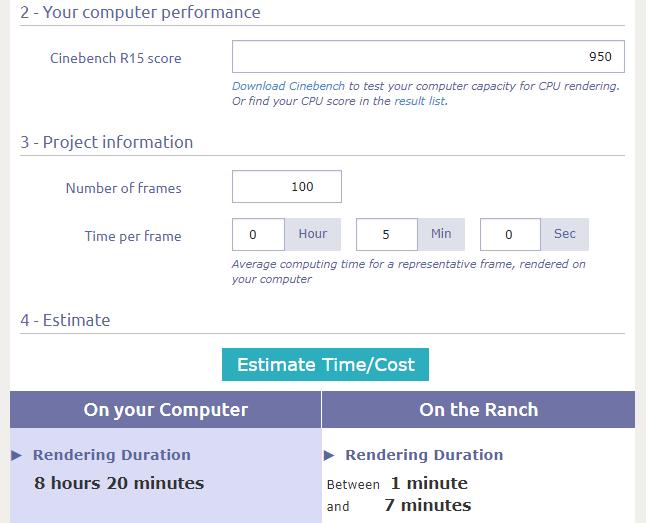 CPU Render Benchmark Cost Calculator CPU