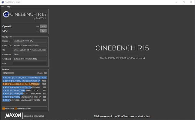 Best CPU Render Benchmark - Cinebench Overview