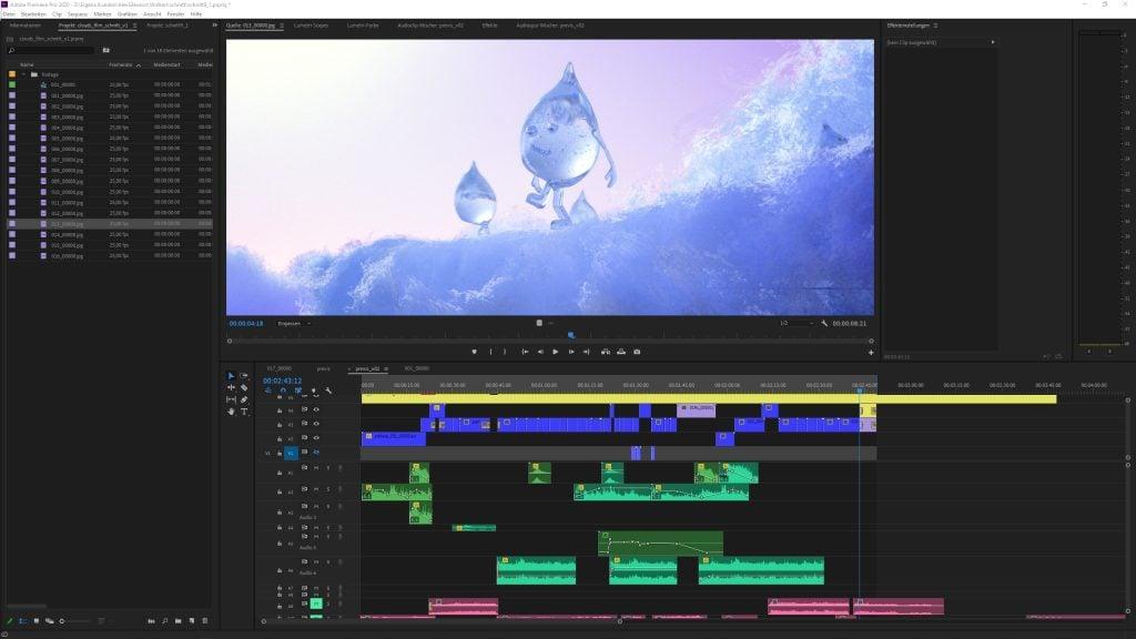 Premiere Pro Video Editing Timeline