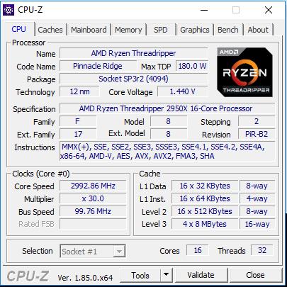 2950X - cpuz