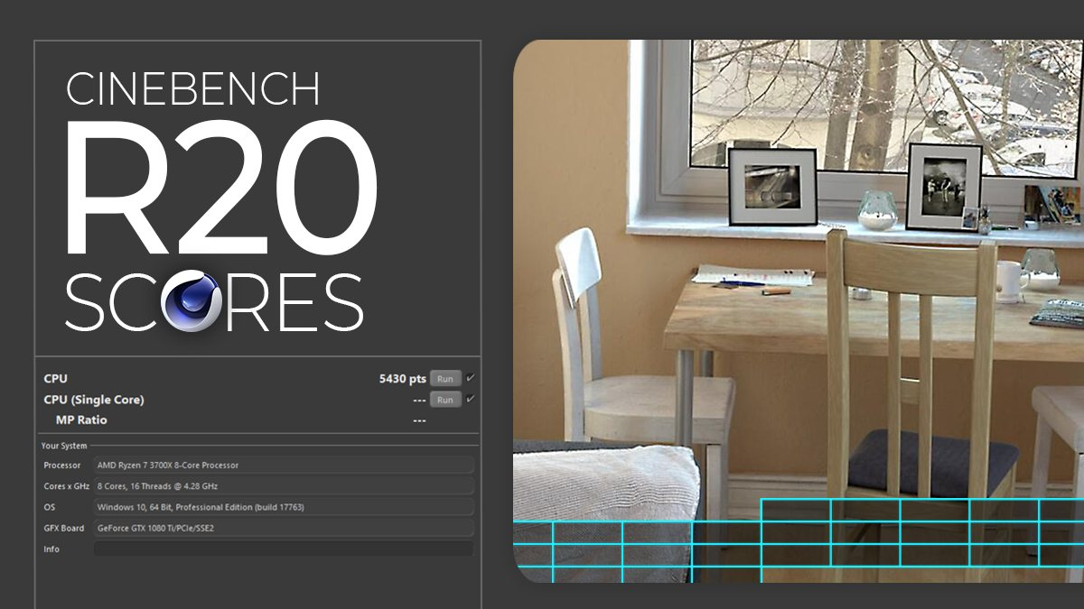 Cinebench R20 Scores Updated Results