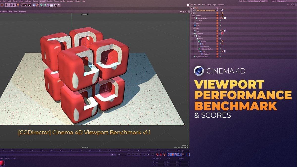 4D Max Cinema cinema 4d viewport performance benchmark & scores (updated