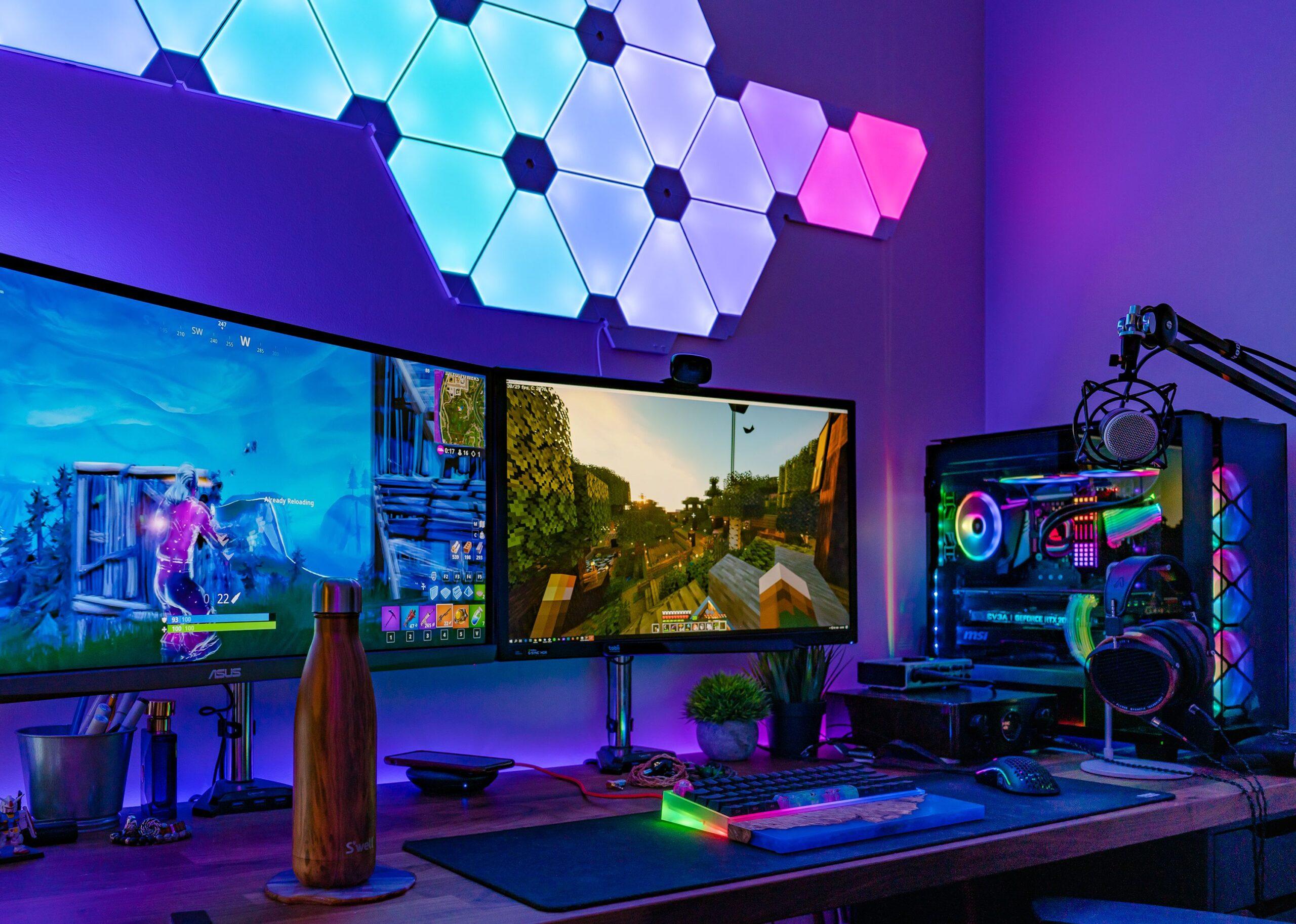 RGB Heavy Custom Gaming Setup