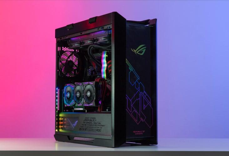 Vertically mounted GPU