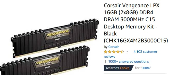 Corsair Ram On Amazon