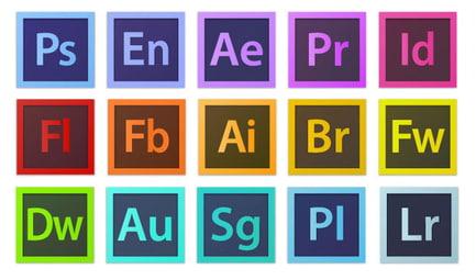 adobe app icons