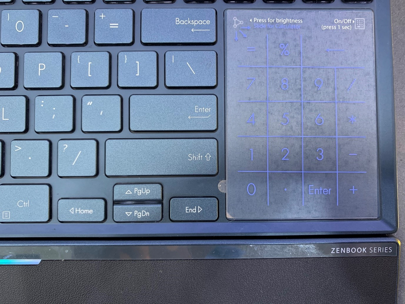 Asus Pro Duo cramped Keyboard