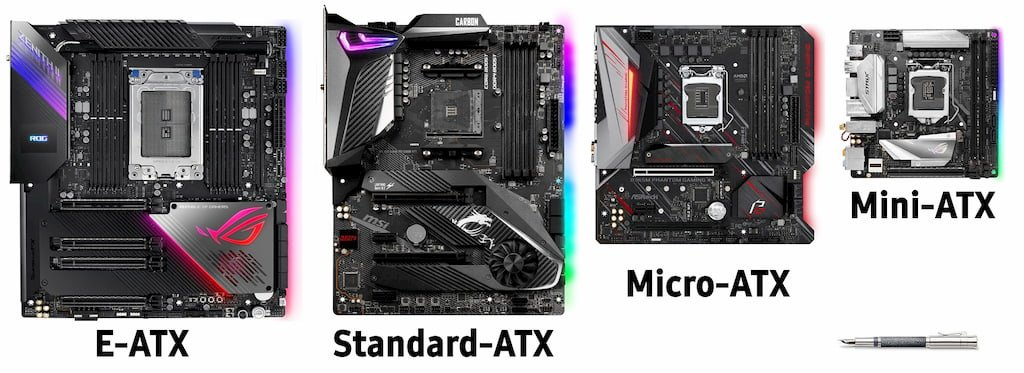 ATX Form Factors comparison