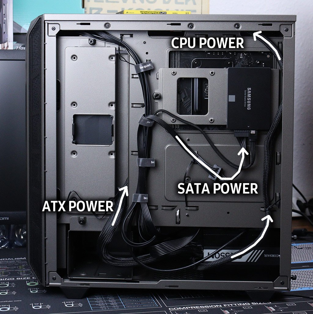cable Management Backside Build a PC