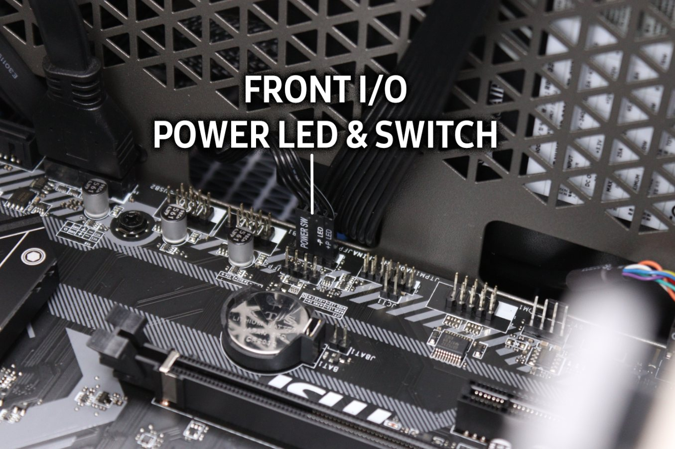 Case Front I/O Power LED Switch