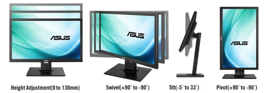 Monitor Ergonomics Tilt, pivot