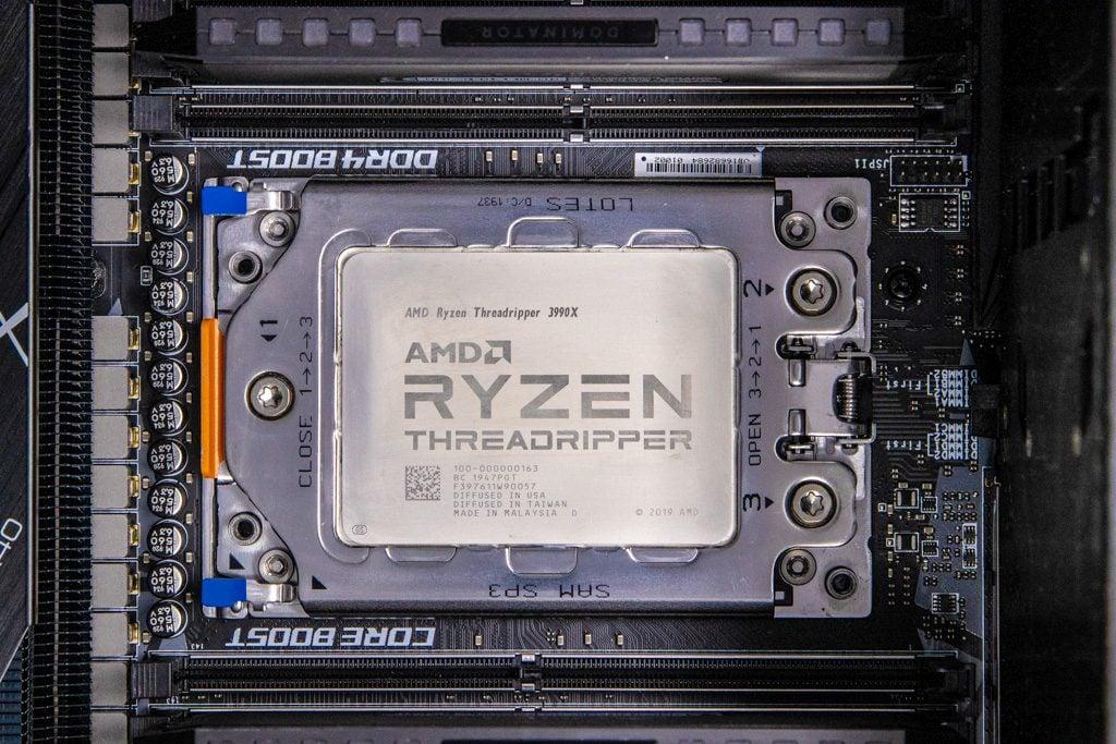 AMD Threadripper 3990X Heat Spreader Bare Photo