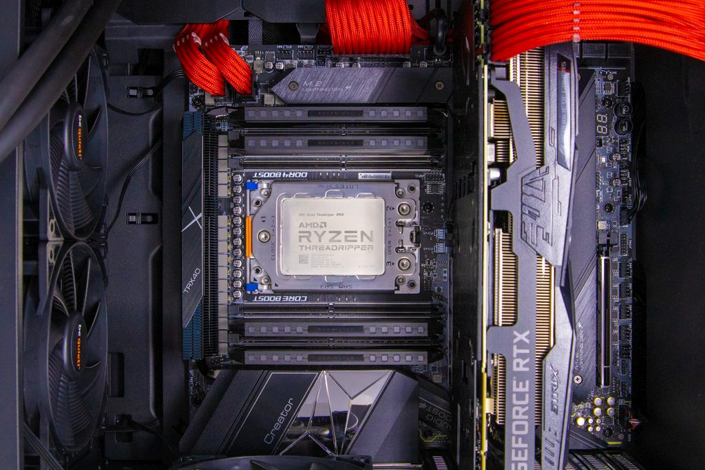 Threadripper 3990X Review System inside look