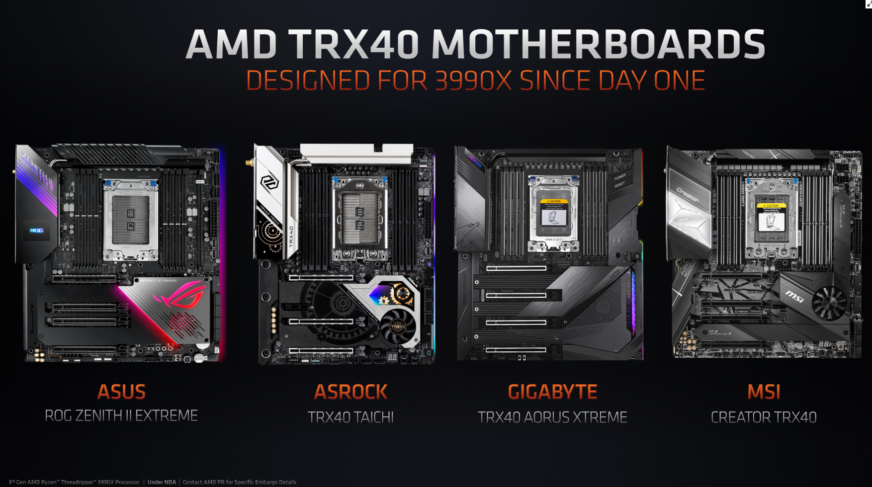 3990X-Ready TRX40 Motherboards Line-Up