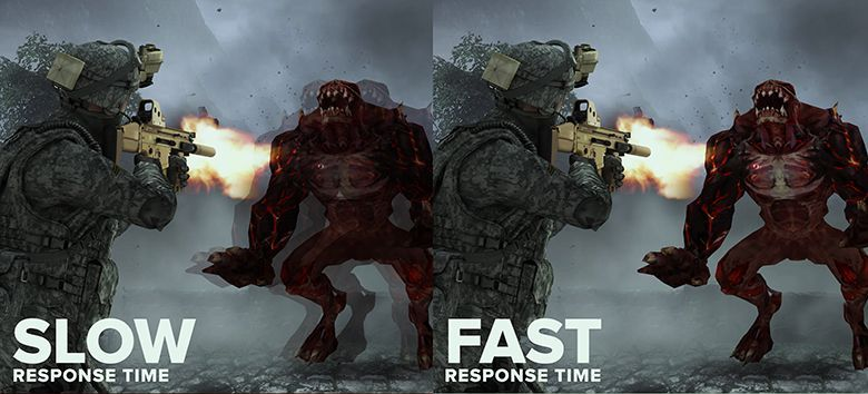 Monitor response time differences