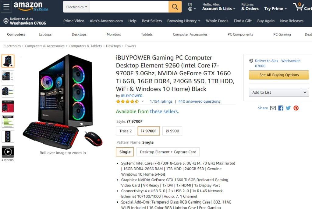 Buy a prebuilt PC from a Retailer