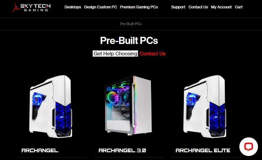 Skytech Gaming Prebuilt PCs