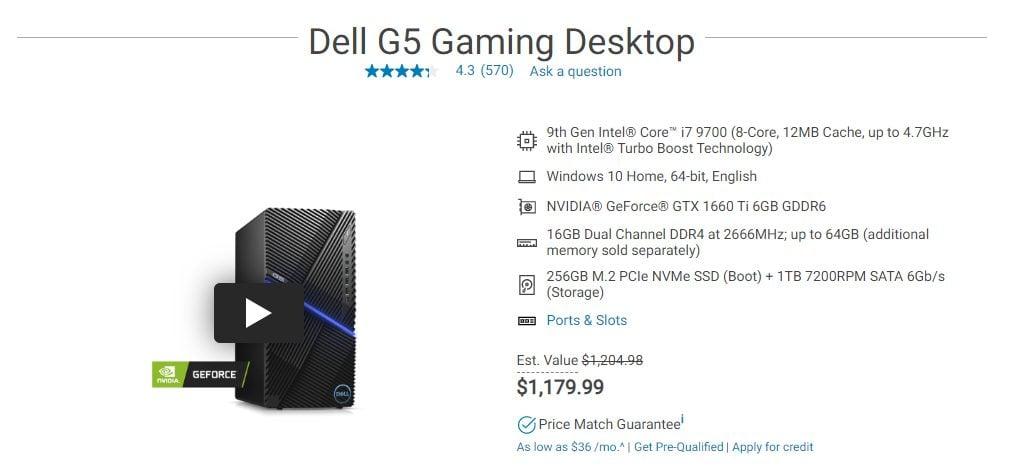 Dell Pre-Built PC