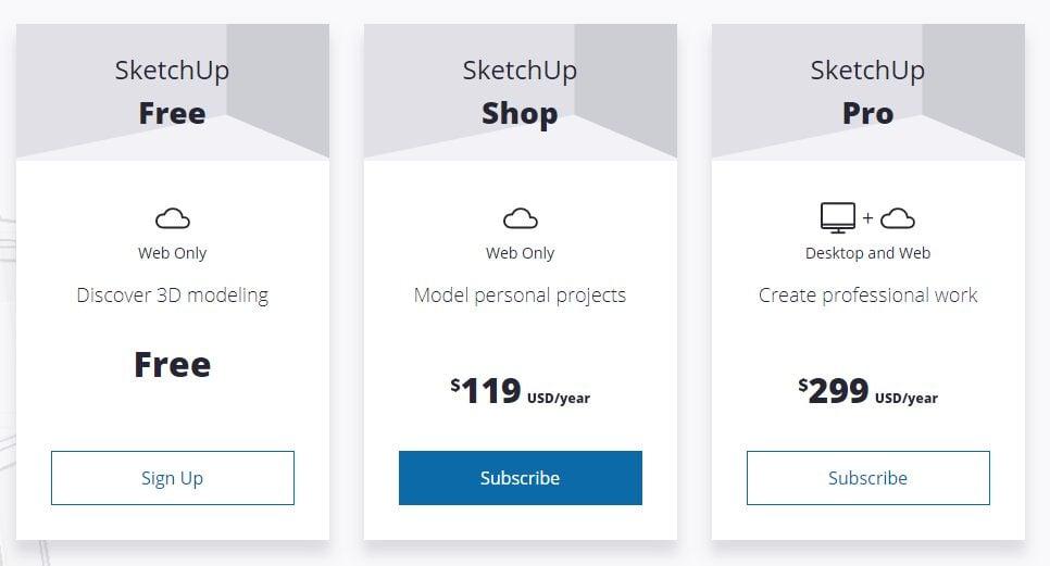 Sketchup Pricing