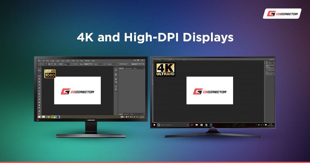 4K vs 2K Display Monitors, smaller font GUI