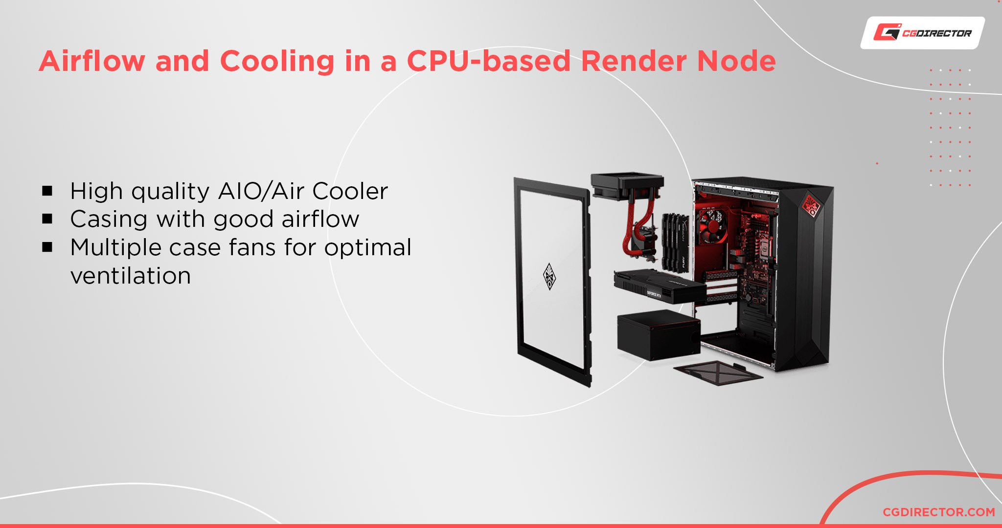 Airflow and Cooling in a CPU-based Render Node