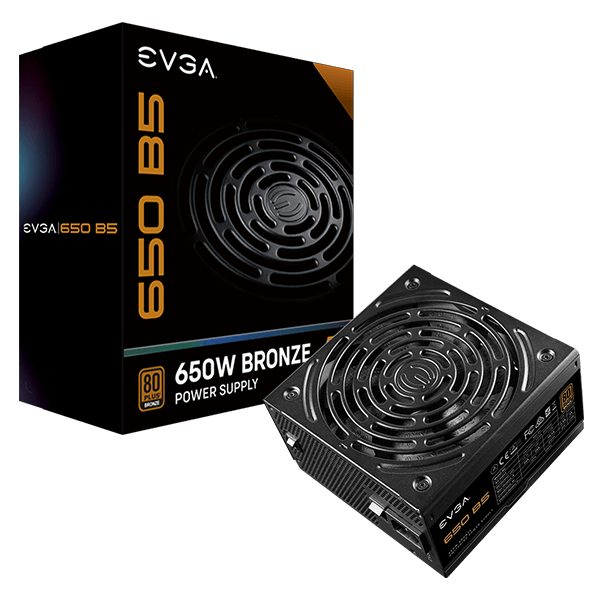 EVGA 650 B5 80-Plus Bronze (Fully-Modular)