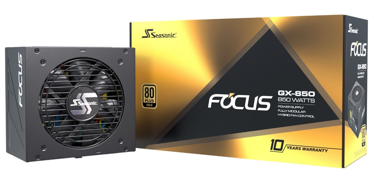 SEASONIC FOCUS GX-850 80-Plus Gold (Fully-Modular)