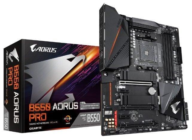Gigabyte B550 Aorus Pro top