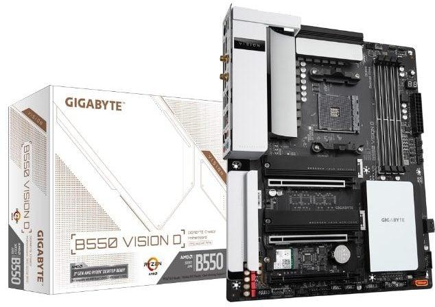 Gigabyte B550 Vision D top