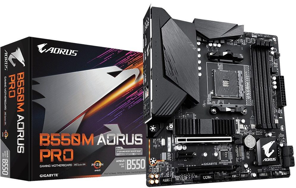 Gigabyte B550M Aorus Pro Top