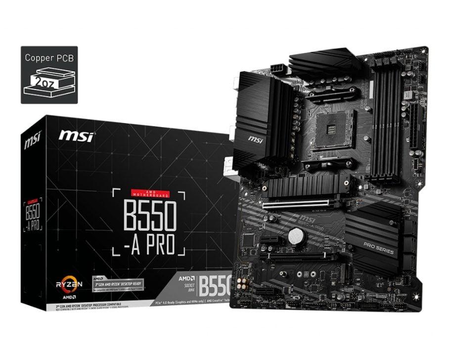 MSI B550-A Pro hero