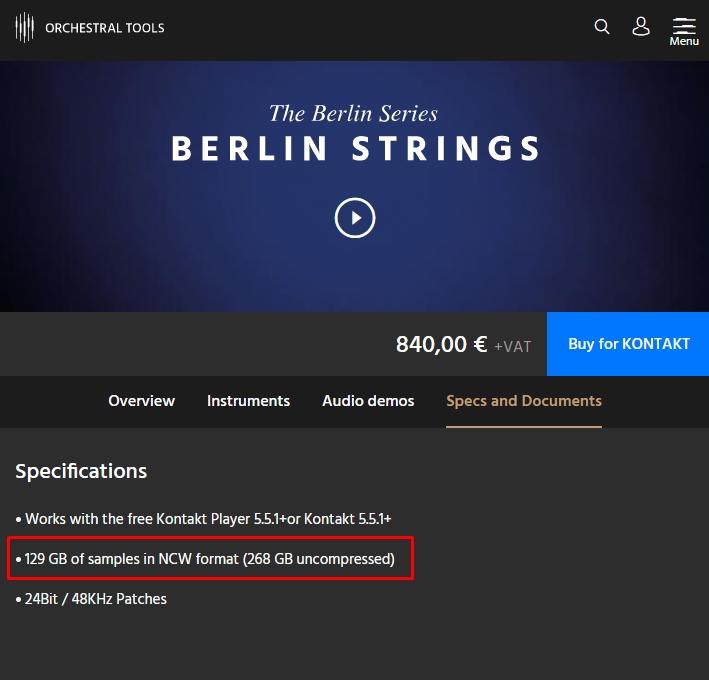 Berlin Strings Disc Space