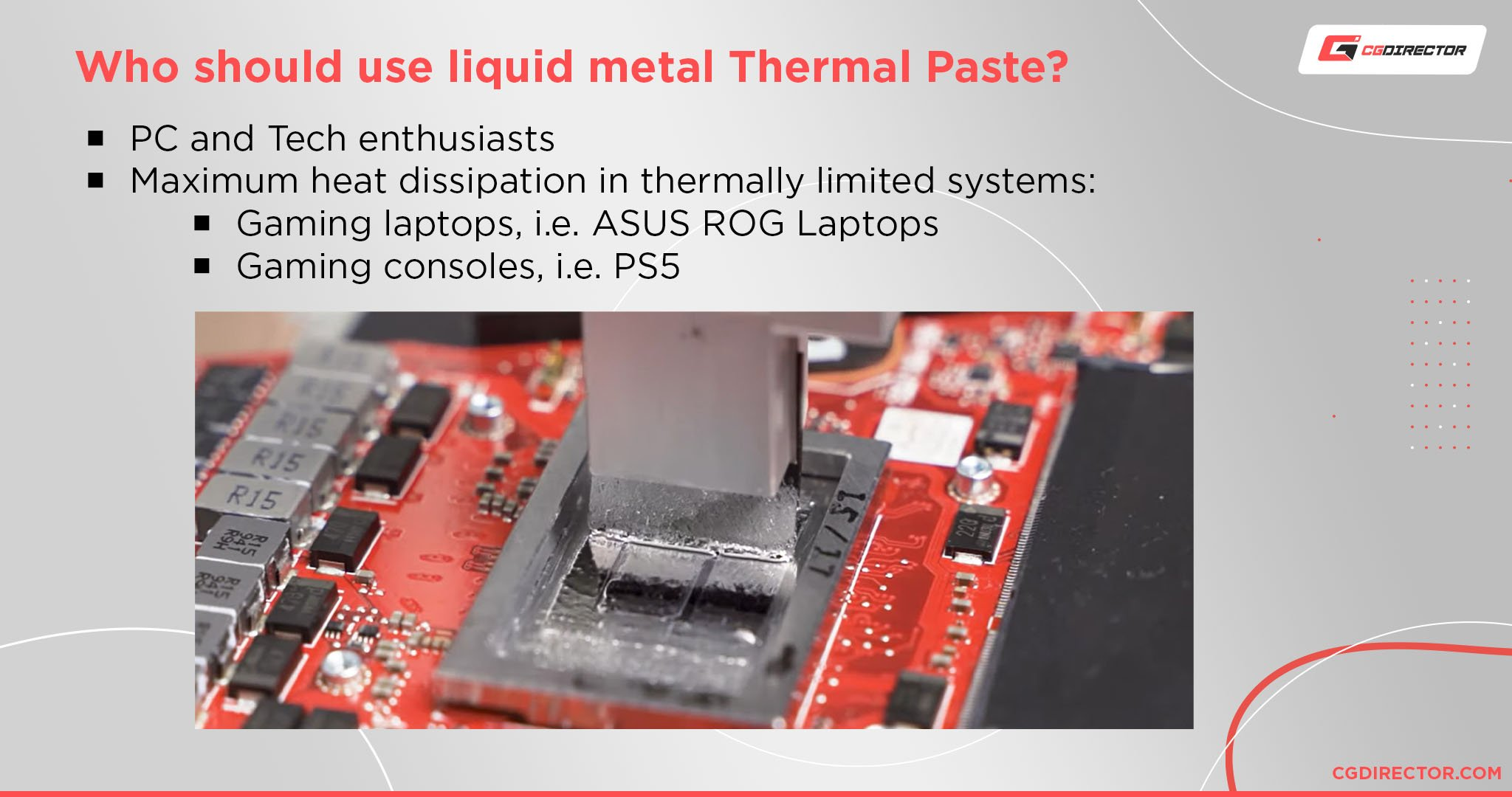 Who should use liquid metal Thermal Paste