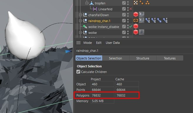 Cinema 4D Object Polygon Count - How to Render Faster