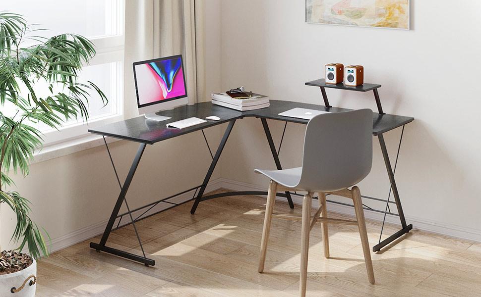 Casaottima L-Shaped Gaming Desk