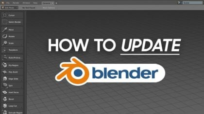How to Update Blender (All possible ways)