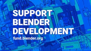 Blender Development Fund Support Badge