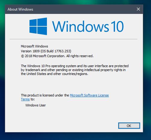 Find your Windows Version Window
