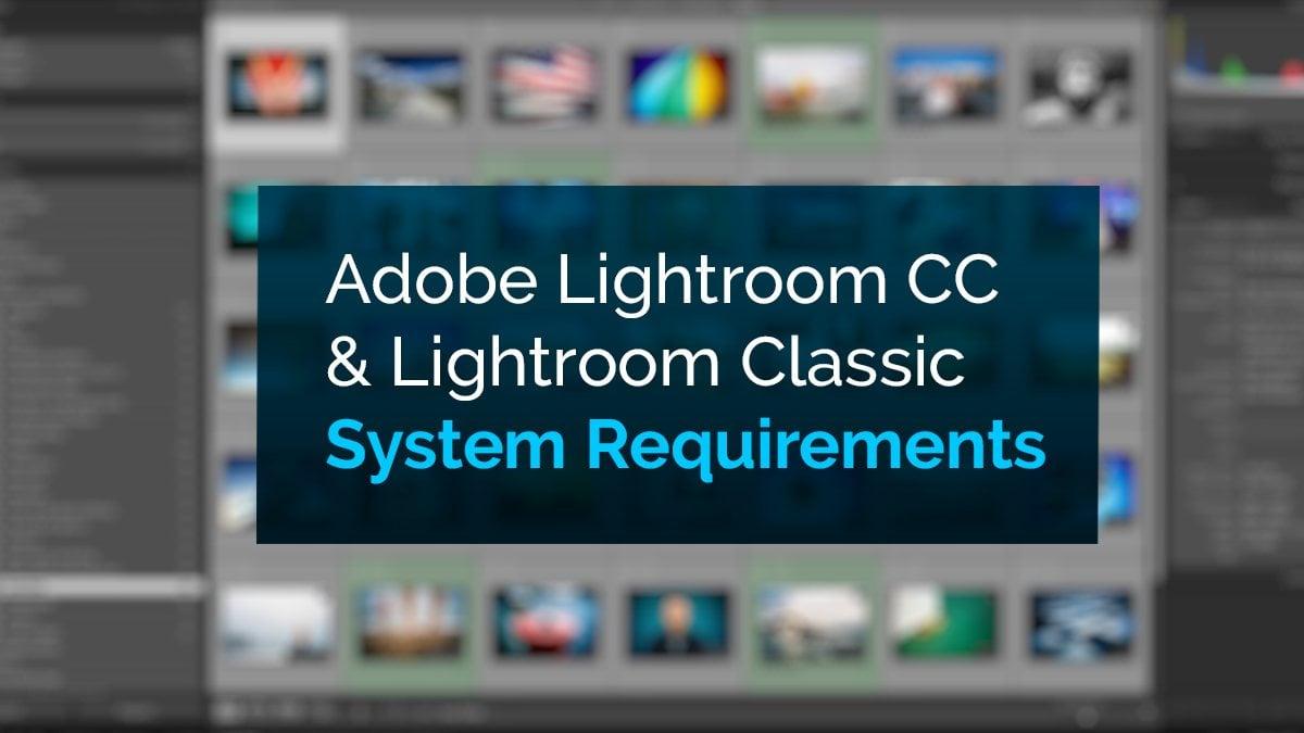 Adobe lightroom specs