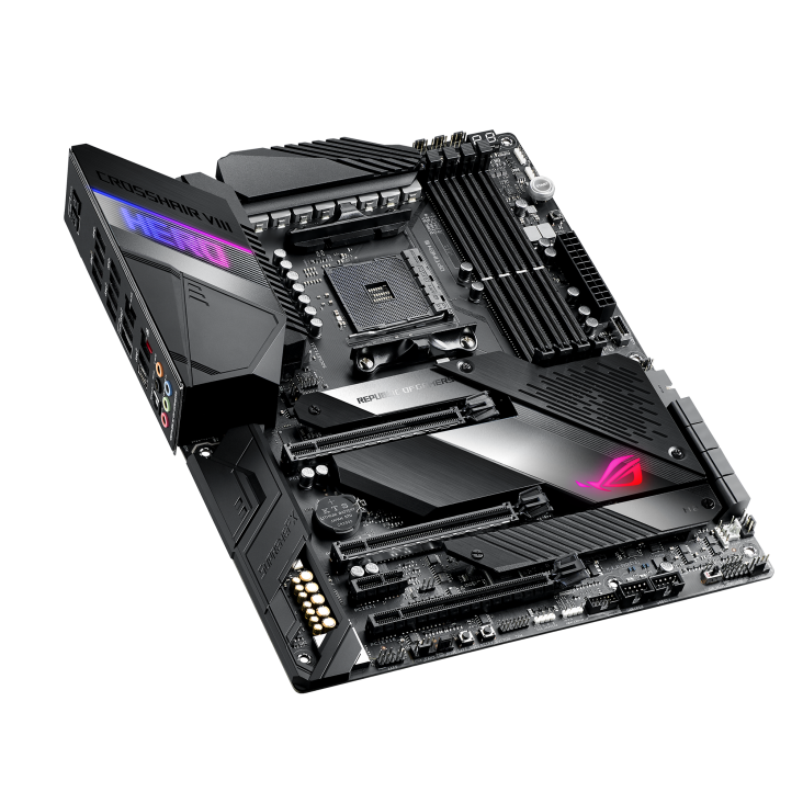 Asus ROG Motherboard showing the pcie slots