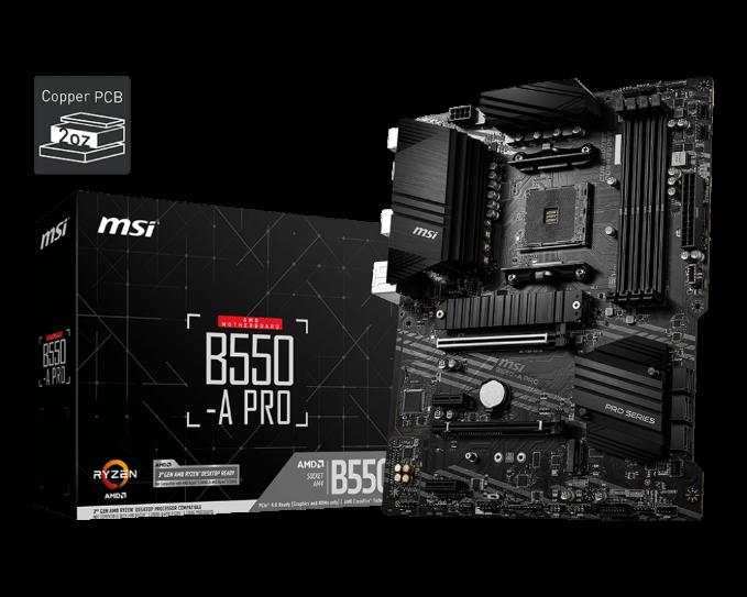 MSI b550 a-pro Motherboard