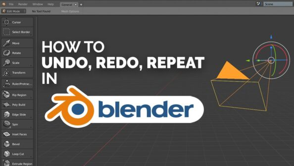 Everything About the Blender Undo, Redo, Repeat Last, and Adjust Last Operations