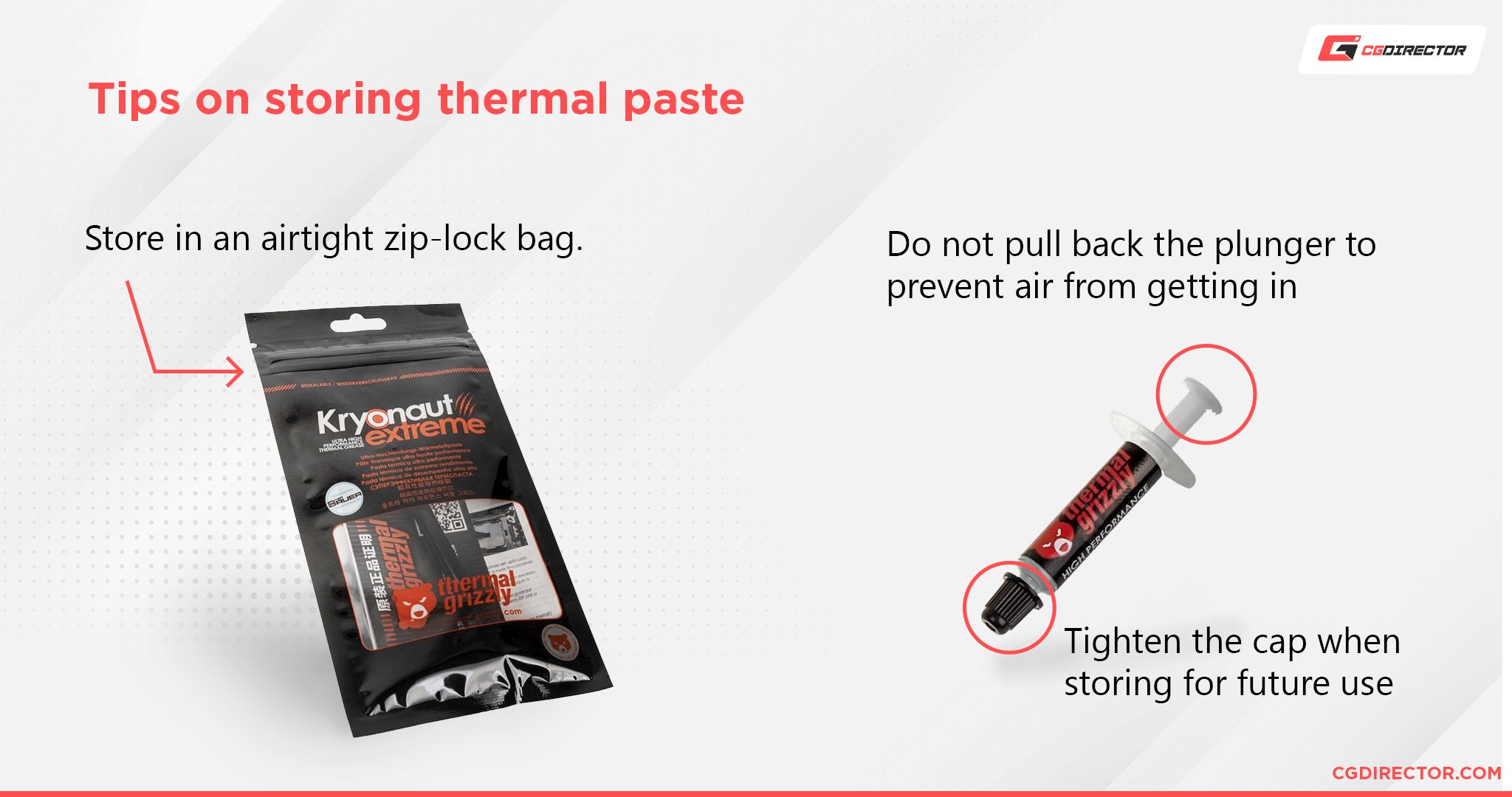 Tips on storing thermal paste