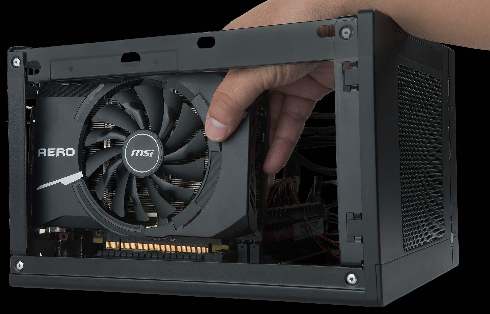 MSI Aero Low Profile GPU in SFF Case