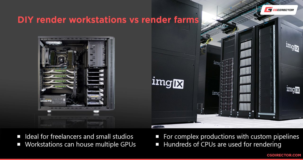 DIY render workstations vs render farms